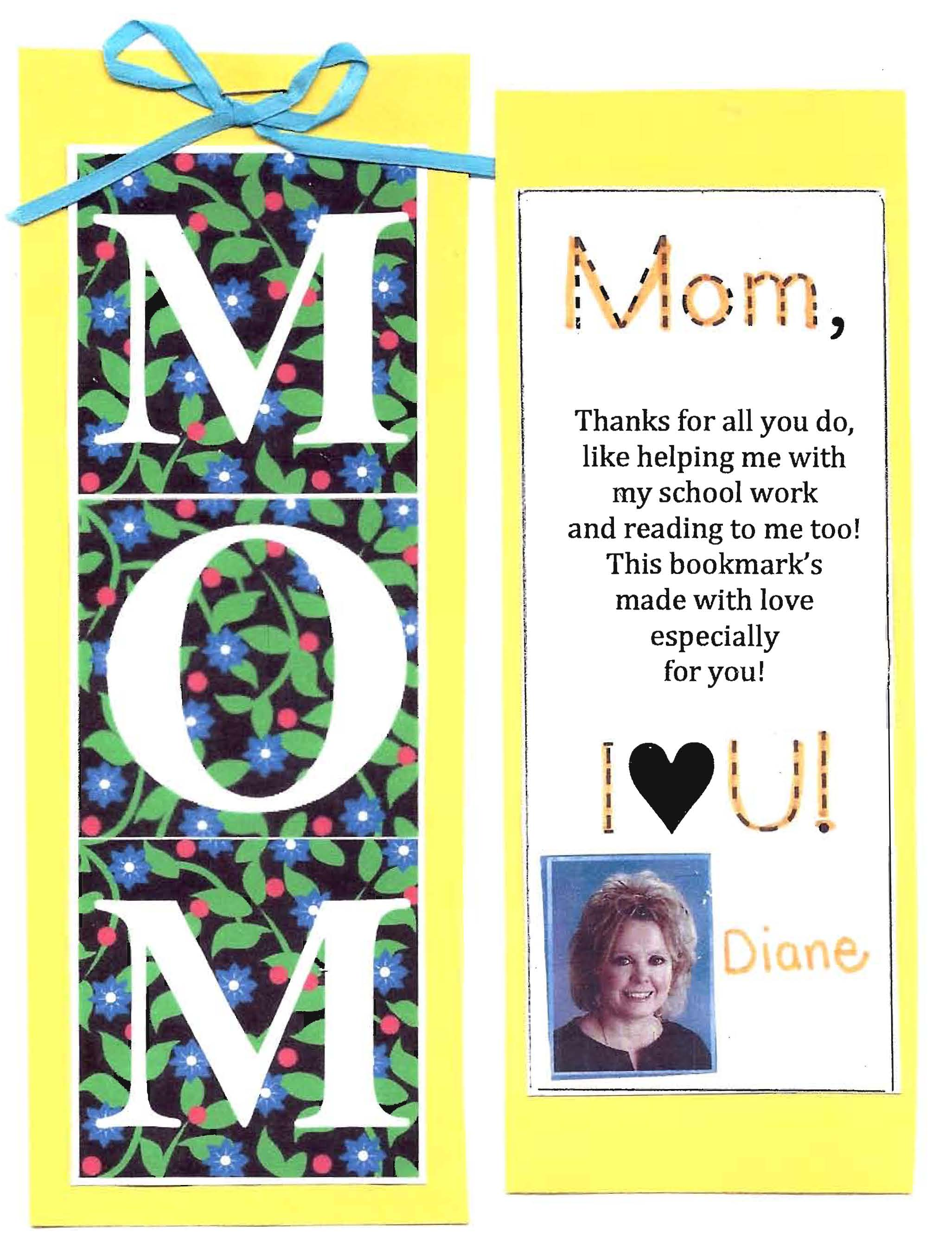 mother's day gift, mother's day crafts, ideas for mother's day, mothers day bookmark, mothers day activities,