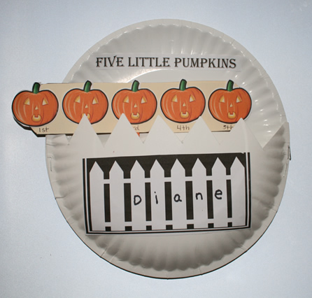 pumpkin arts and crafts, pumpkin puppets, five little pumpkins