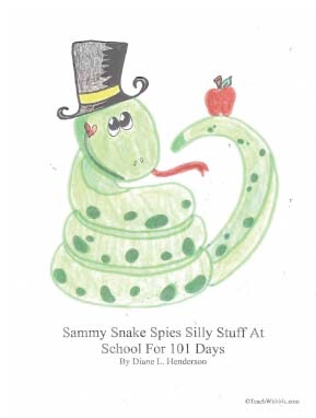 back to school ideas, first day of school ideas, counting up to 100 day ideas, counting with sammy snake to 100 day