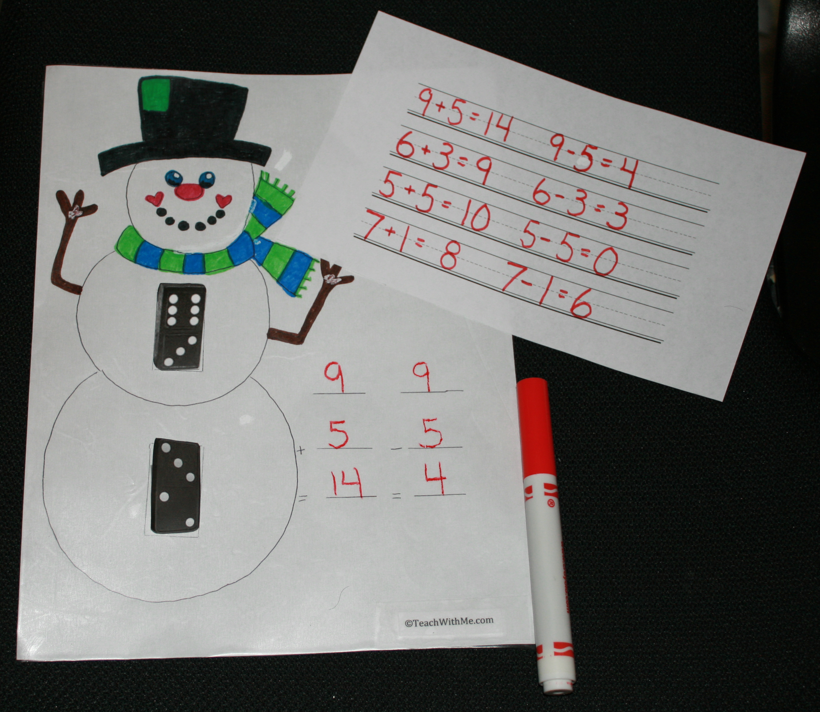 FREE common core lessons, math games, domino games, snowman activities, snow activities, addition activities, addition games, subtraction activities, subtraction games, math centers,