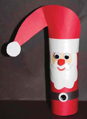 Toilet paper tube Santa, December Crafts for kids, Art for preschool, kindergarten and first grade. Winter activities for kids