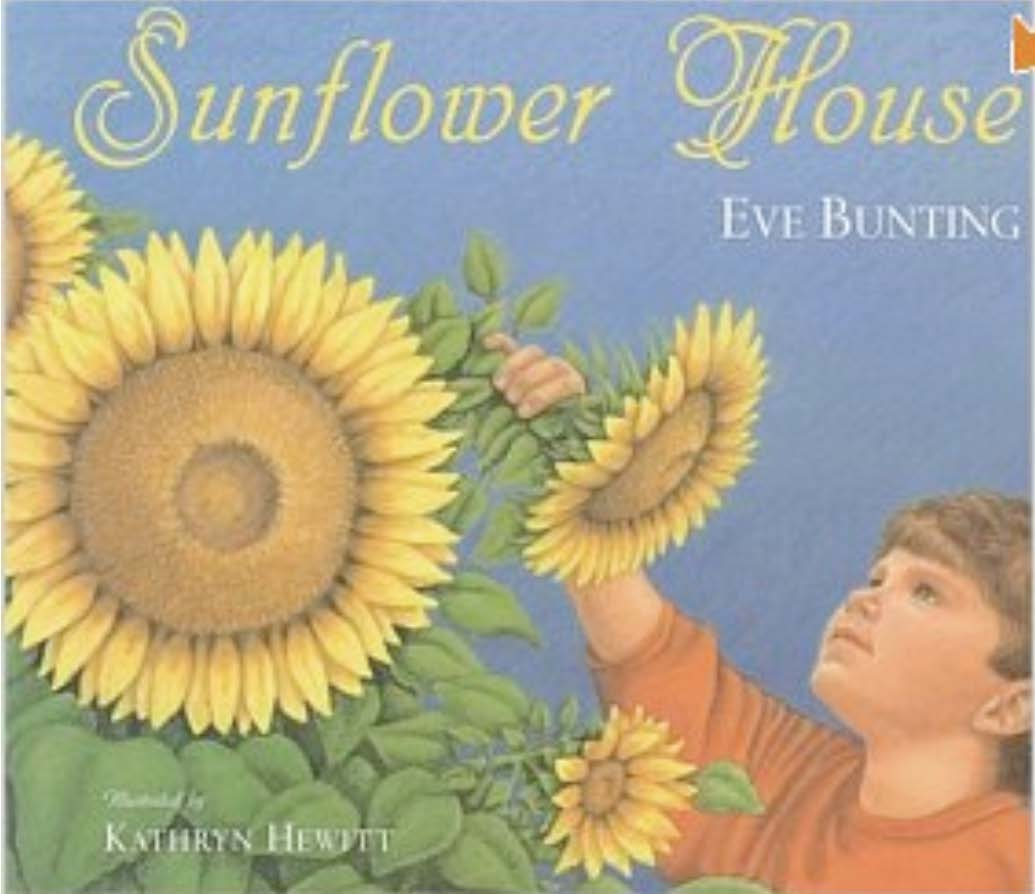 Sunflower House book, May books to read, flower books, sunflower books