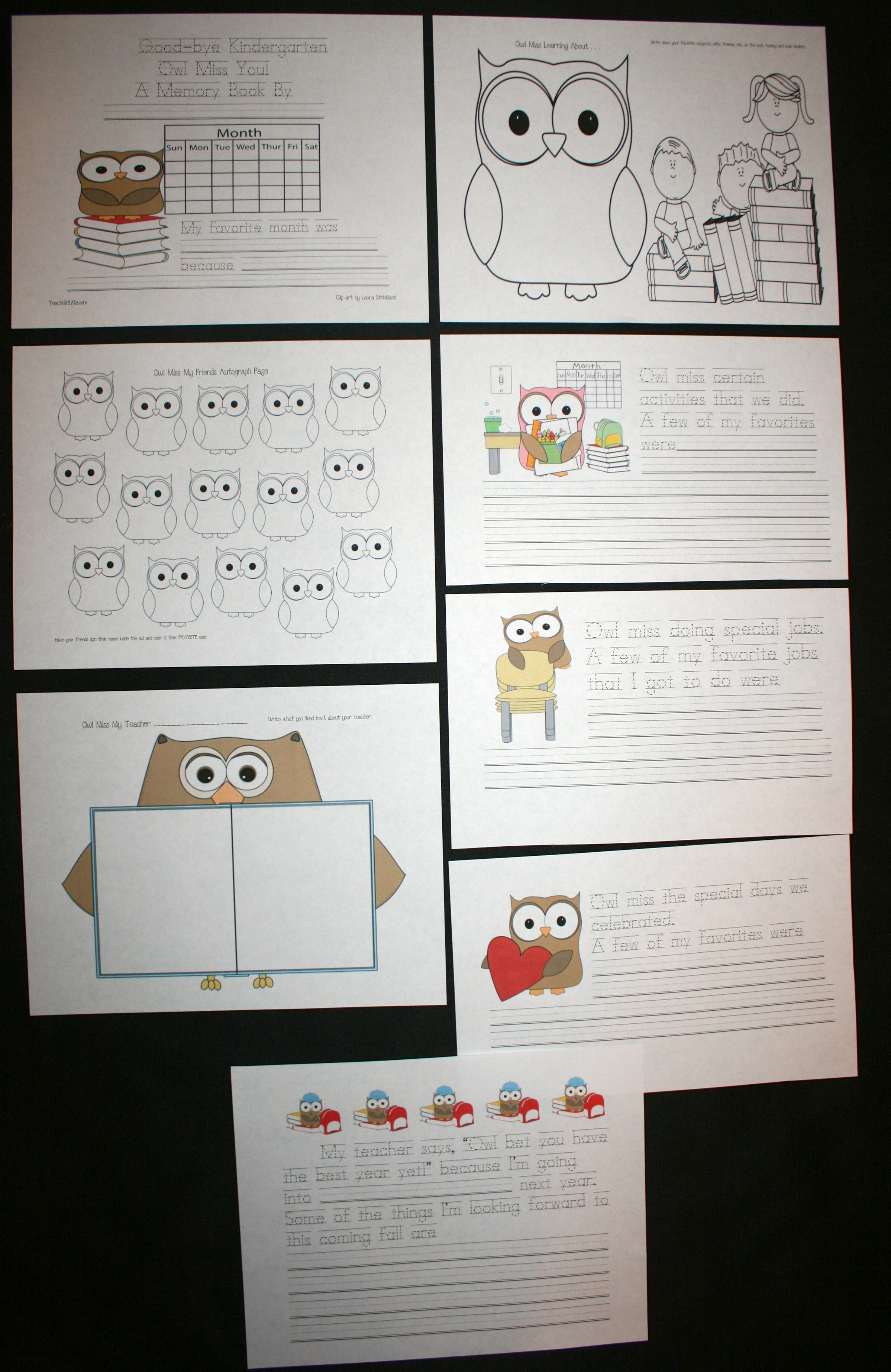 owl activities, owl crafts, memory books, free school memory book, end of the year writing prompts, may writing prompts, june writing prompts, graduation writing prompts, graduation ideas, owl miss writing prompts, class made books, class books, end of the year activities, end of the year daily 5, ccss end of the year, ccss for kindergarten, free ccss for kindergarten, kindergarten writing prompts, 1st grade writing prompts, 2nd grade writing prompts, 3rd grade writing prompts, autograph books,daily 5 for may, daily 5 for june,