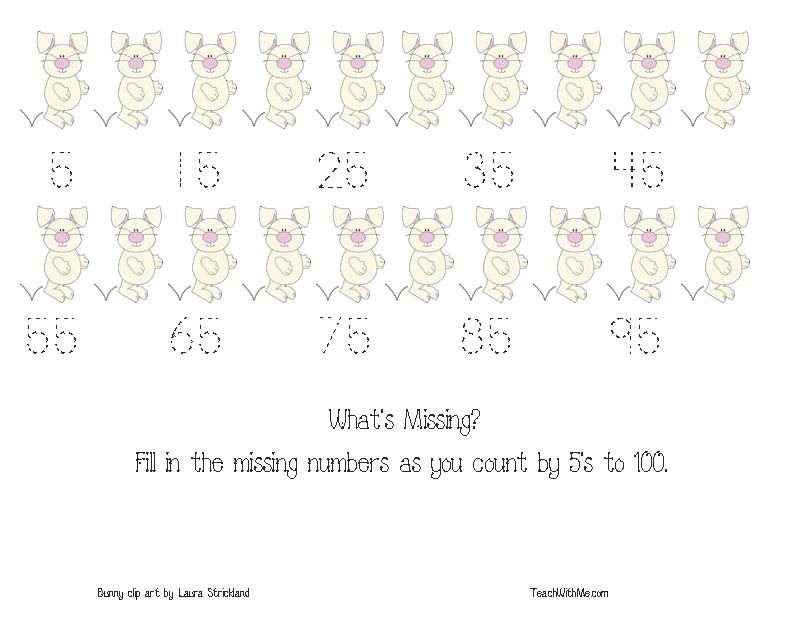 skip counting by 2's, 3's, 5's, 10's, activities for skip counting, spring math activities, bunny activities, bunny bookmarks, easter activities, skip counting bookmarks, bookmarks, free common core for kindergarten and 1st,