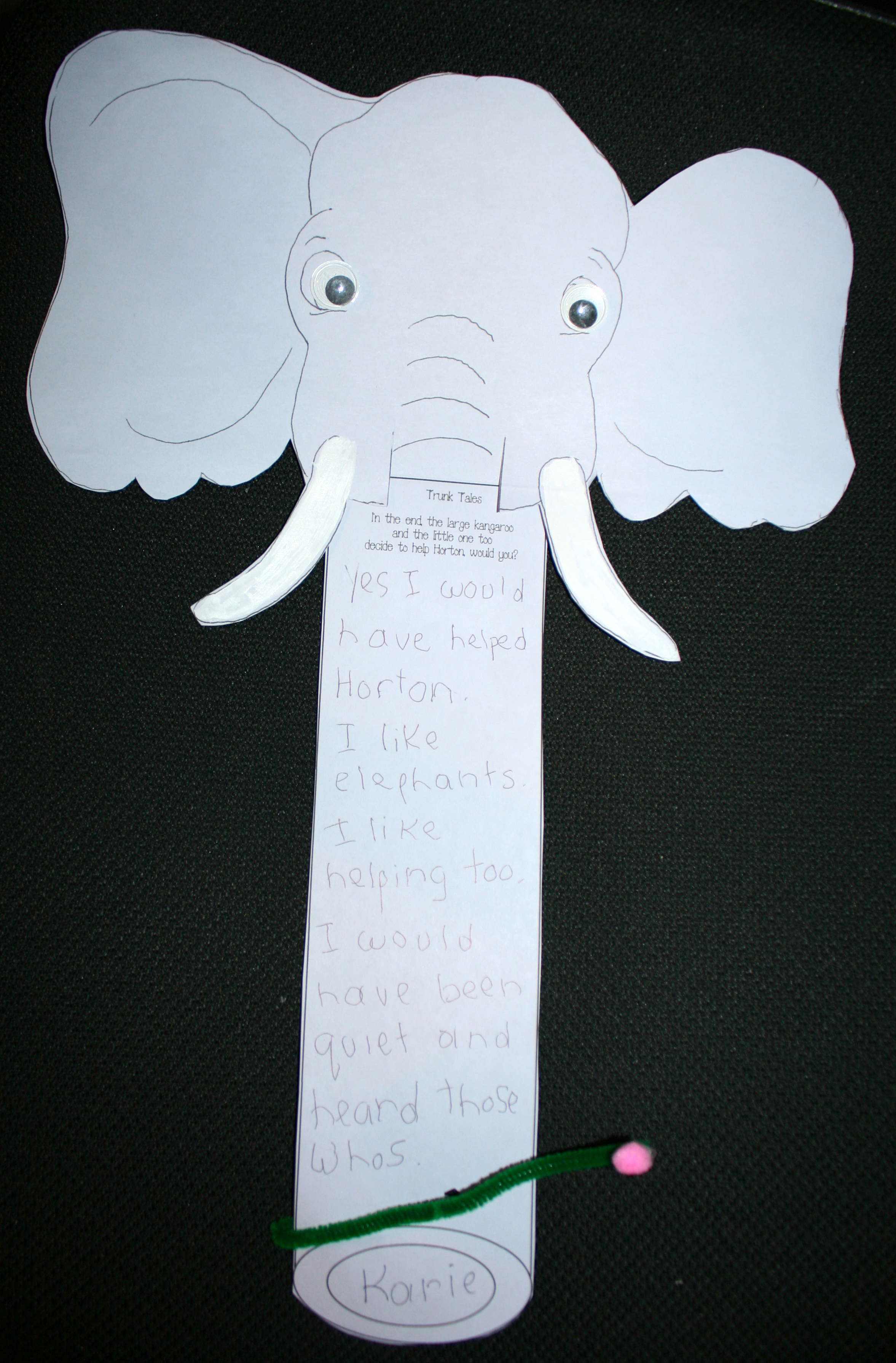 Horton writing prompts, Horton activities, horton lessons, horton crafts, horton puppets, whoville activities, whoville lessons, whoville crafts, whoville puppets, writing prompts for seuss, seuss writing prompts, writing prompts for March, bulletin boards for seuss, bulletin boards for Horton hears a who, elephant activities, horton bulletin board ideas,