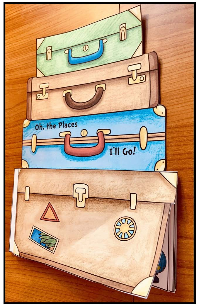 activities for oh the places you'll go, seuss writing prompts, bulletin board ideas for read across america, seuss activities, seuss crafts, travels around the world activities