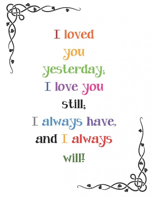I'll Always Love You Poster