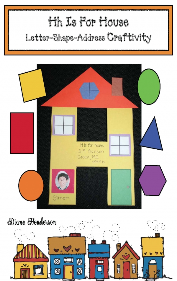 H Is For House Shape Craftivity