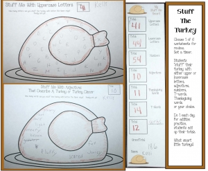Turkey Stuffing Worksheet Games