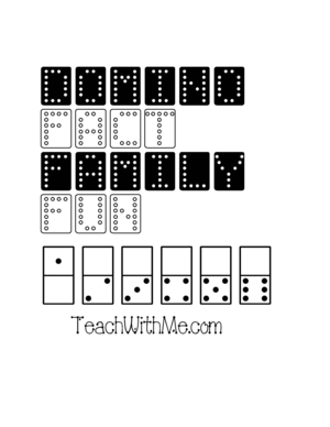 Domino Fact Family Packet