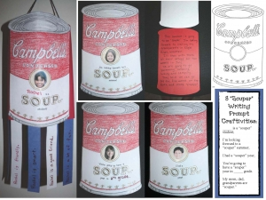 """Souper"" Writing Prompt Craftivities"