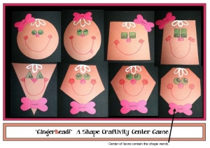 """Gingerhead"" Shape Craftivity"