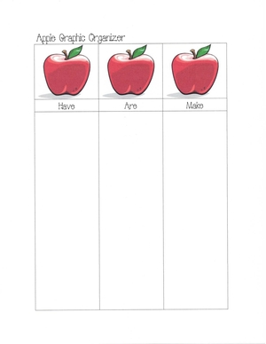 Seasonal Themed Graphic Organizers