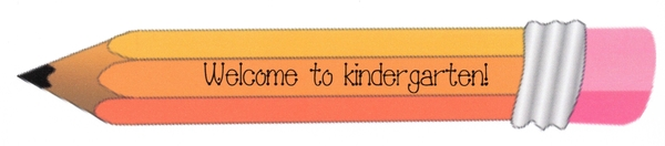 Welcome To School Pencil Bookmark K-5th