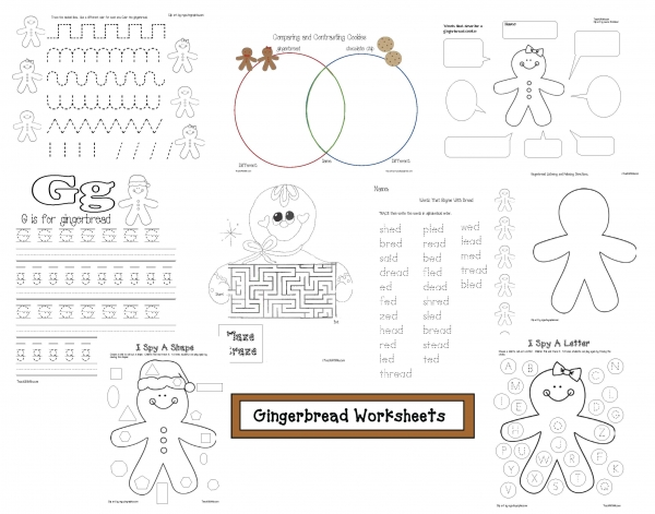Gingerbread Worksheets