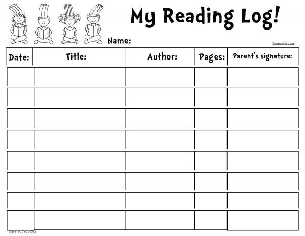 Seuss-Themed Reading Log