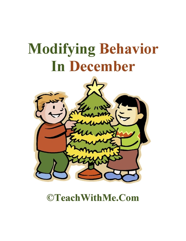 Modifying December Behavior Idea Book