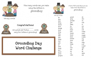 Groundhog Day Word Challenge