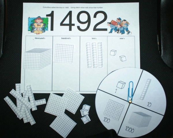 Columbus Day Place Value Activities