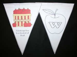 Back To School Apple Welcome Banner