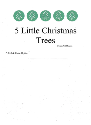Booklet: 5 Little Christmas Trees