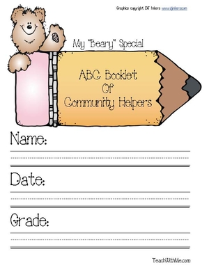 Community Helpers Alphabet Booklet