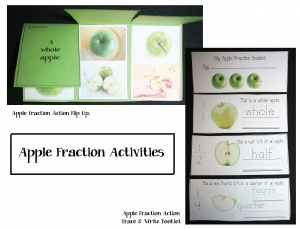 Fraction Apple Flip Up Booklet