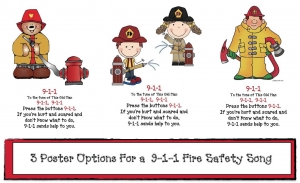 Fire Safety 911 Song Posters