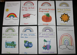 Let's Color A Rainbow Ordinal Number Booklet