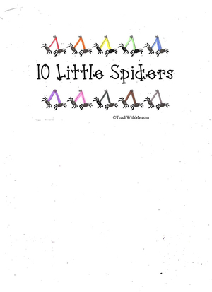 Booklet: 10 Little Spiders