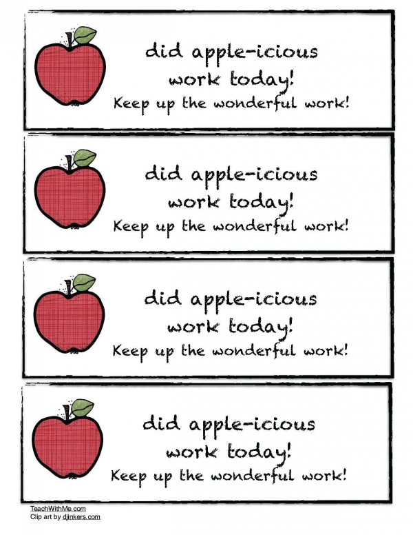 Apple-icious Work Certificate