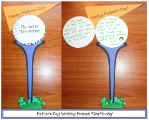 """Tee-rrific"" Father's Day Writing Prompt Craftivity"