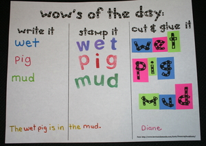 CVC Daily Word Activity