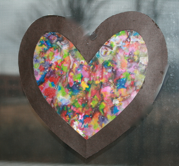 Melted Crayon Valentine Hearts