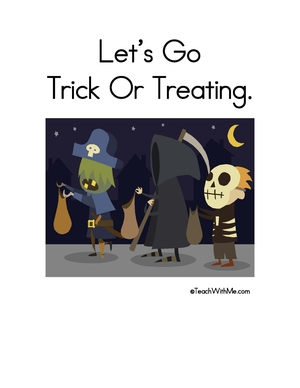 Booklet: Let's Go Trick Or Treating