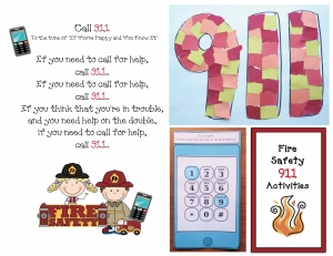 Fire Safety Call 911 Craftivity
