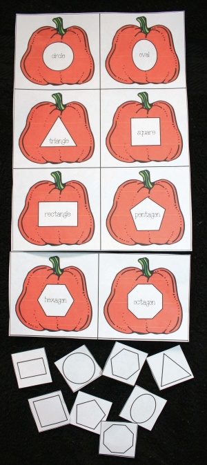 Pumpkin Matching Shape Game
