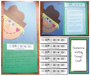 Peeking Scarecrow Writing Prompt Craftivity