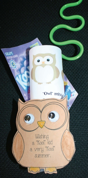 Kool Kid Owl Miss You Gift