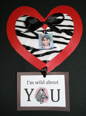 Valentine and Treat Bag: I'm Wild About You
