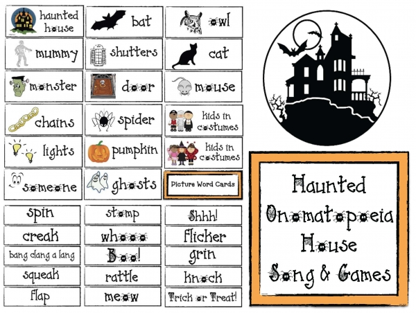 Haunted Onomatopoeia House Song and Games