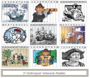 Columbus Day Number Puzzles