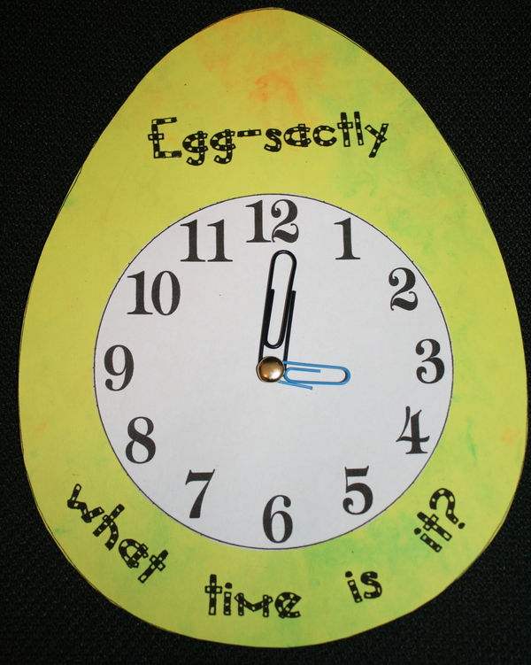 Egg sactly What Time Is It Time Games