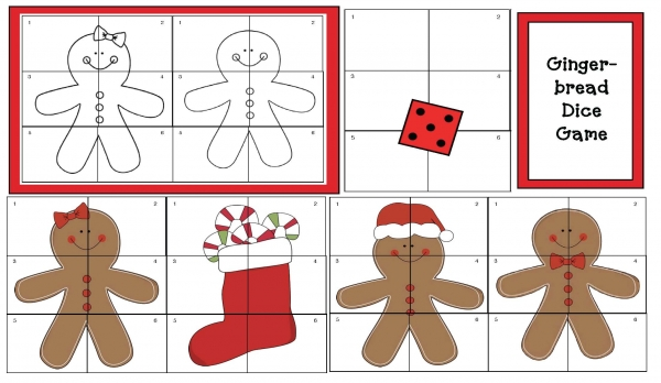 Gingerbread Dice Game Puzzles
