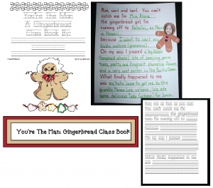 You're The Man Gingerbread Writing Prompt