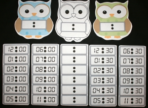 Owl Digital Clock Packet