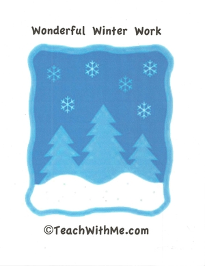 Wonderful Winter Work
