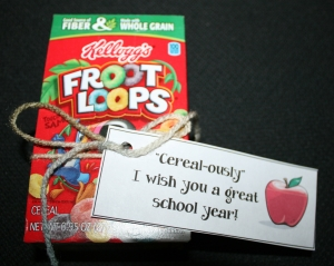 Back To School Cereal Box Treat