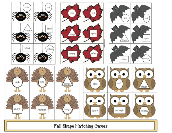 Fall Shape Matching Games