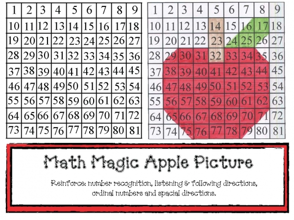 Math Magic Apple Picture